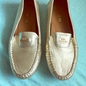 Gold Coach Loafers